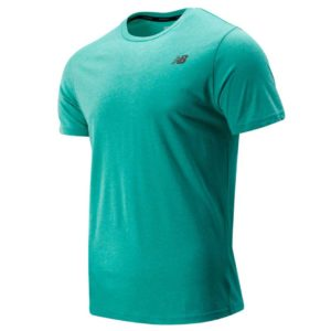 Camiseta de hombre New Balance Heather Tech en color verde