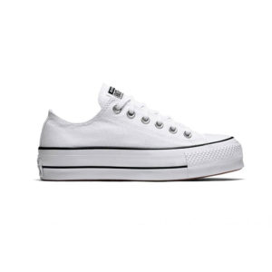 Zapatillas Converse Chuck Taylor All Star con plataforma, en color blanco, para mujer.