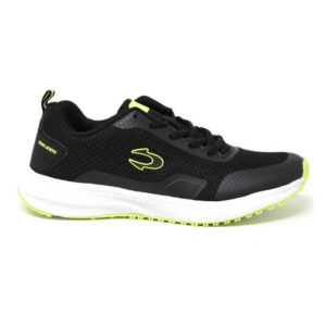 Zapatillas John Smith Rumin en color negro y verde, de running, para hombre.