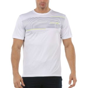 Camiseta John Smith Danu en color blanco con rayas para hombre.