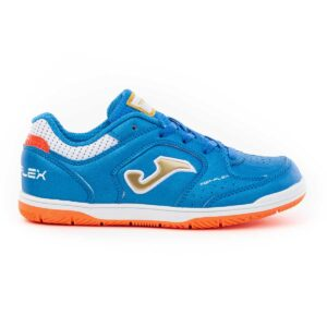 Zapatillas Joma Top Flex Jr 2005 de fútbol sala indoor para niño en color azul royal.