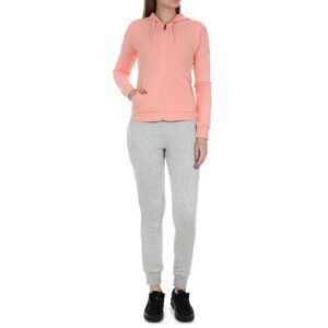 Chándal Puma Clean Sweat Suit Cl en color rosa y gris para mujer.