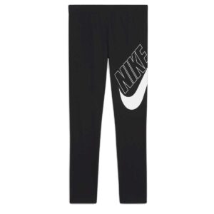 Mallas Nike Sportwear Favorites en color negro y blanco para niña.