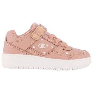 Zapatillas Champion Rebound Low en color rosa, con velcro, para niña.