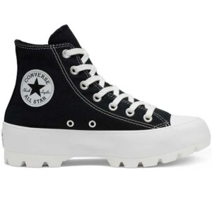 Zapatillas Converse Chuck Taylor All Star Lugged High Top en color negro para mujer.
