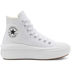 Zapatillas Converse Chuck Taylor All Star Move en color blanco, de estilo clásico, para mujer.
