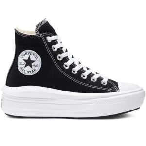 Zapatillas Chuck Taylor All Star Move High Top en color negro para mujer.