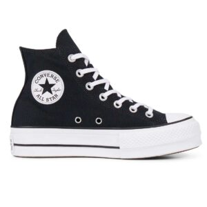 Zapatillas Converse Chuck Taylor All Star Platform HIgh Top en color negro para mujer.