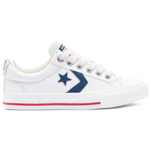 Zapatillas Converse Star Player en color blanco, unisex.