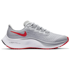Zapatillas Nike Air Zoom Pegasus 37 para niño, en color gris y rojo
