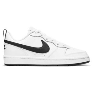 Zapatillas Nike Court Borough Low 2 en color blanco y negro.