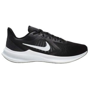 Zapatillas Nike Downshifter 10 para hombre, en color negro y blanco, de running.