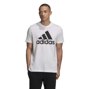 Camiseta Adidas Must Haves Badge of Sport para hombre, en color blanco.