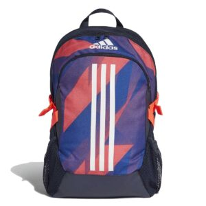 Mochila Unisex Adidas Power en color azul y coral.