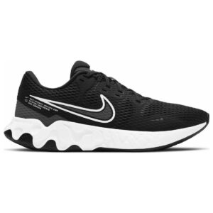 Zapatillas Nike Renew Ride para hombre, en color negro y blanco, de running.