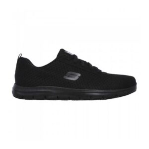Zapatillas Skechers Work Relaxed Fit Ghenter Bronaugh para mujer, en color negro.