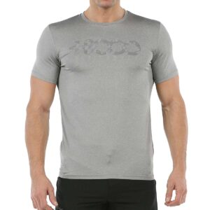 Camiseta +8000 Wanted 21v para hombre, en color gris.