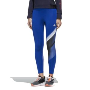 Leggins mallas Adidas Unleash Confidence FeelBrilliant para mujer, en color azul y blanco.