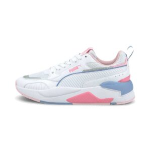 Zapatillas Puma X Ray 2 Square para niña, en color blanco, rosa, azul y multicolor.