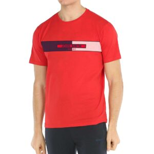 Camiseta John Smith Furcoin para hombre, en color rojo.