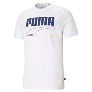 Camiseta Puma Rebel en color blanco para hombre.