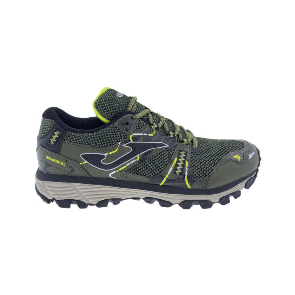 Zapatillas Joma TK Shock Men 2123 para hombre, en color kaki, de trail running.